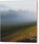 Smoky Mountain Blush Wood Print