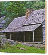 Smoky Mountain Cabins Wood Print