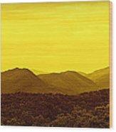 Smoky Mountain Glow Wood Print