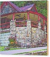 Old Log Cabin - Smoky Mountain Home Wood Print