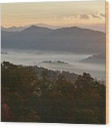 Smoky Mountain Morning Wood Print