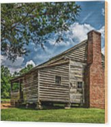 Smoky Mountain Pioneer Cabin E126 Wood Print