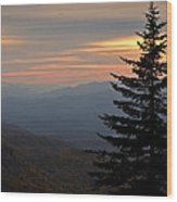 Smoky Mountain Sentinel  Wood Print