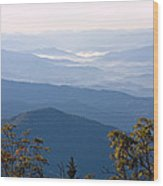 Smoky Mountains From Clingmans Dome Wood Print