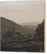 Smoky Mountains Lookout Point Wood Print