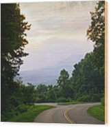 Smoky Mountains Scene Wood Print