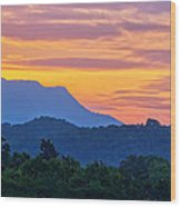 Smoky Mountains Sunrise Wood Print