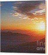 Smoky Mountains Sunset Wood Print