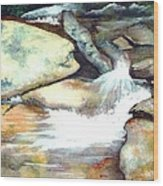 Smoky Mountains Waterfall Wood Print