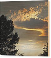 Smoky Summer Afternoon Sky Wood Print