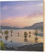 Smoky Sunset Wood Print