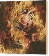 Smoky The Voodoo Clown Doll  Wood Print