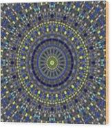Smooth Squares Kaleidoscope Wood Print