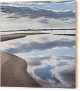 Smooth Water Reflections Wood Print
