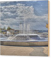 Smothers Park Fountains #1 Wood Print by Wendell Thompson