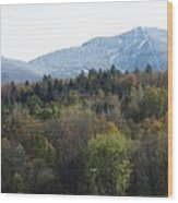 Smugglers Notch From Cambridge Vermont Wood Print