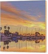 Smyrna Yacht Club Sunrise II Wood Print