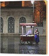 Snack Seller Cankurtaran Istanbul Wood Print