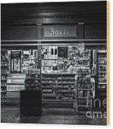 Snack Shop Bw Wood Print