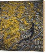 Snake Bird Wood Print