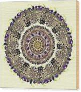 Snake Mandala Wood Print