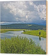 Snake River By Oxbow Bend In Grand Teton National Park-wyoming Wood Print