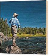 Snake River Cast Wood Print