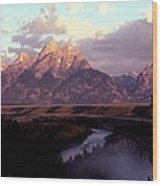 Snake River Overlook At Dawn  Wood Print