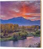 Snake River Sunrise Wood Print
