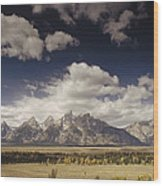 Snake River Valley Grand Teton Np Wood Print