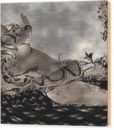 Snake Wood Print by Theda Tammas