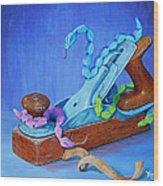 Snakes On A Plane Wood Print by Tanja Ware
