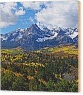 The Sneffles Range Wood Print