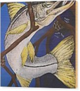 Snook Painting Wood Print by Lisa Bentley