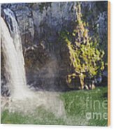 Snoqualime Falls And Pool Wood Print
