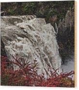 Snoqualmie Falls At Flood Stage Wood Print