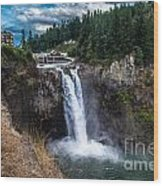Snoqualmie Falls Wood Print by Chris Heitstuman