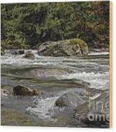 Snoqualmie Rapids Washington Wood Print