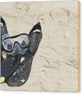 Snorkel Equipment Wood Print