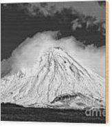 Snow And Clouds On Mt. Ngauruhoe 2 Wood Print
