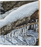 Snow And Icicles No. 1 Wood Print