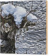 Snow And Icicles No. 2 Wood Print