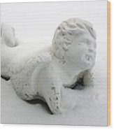 Snow Angel Figurine Wood Print