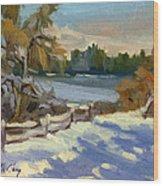 Snow At Martha Lake Wood Print