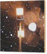 Snow At Night - 1779 Wood Print