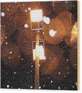 Snow At Night - 1780 Wood Print
