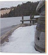 Snow Barrel Wood Print