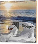 Snow Bird Vacation Wood Print