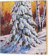 Snow Blanket Wood Print