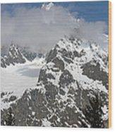 Snow Bowl In Italian Alps Wood Print